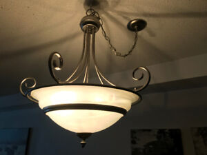 Chandelier Light Fixture (five lights, used)