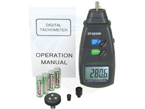 DT6235B Digital Photo Contact Tachometer RPM Meter Surface Spee