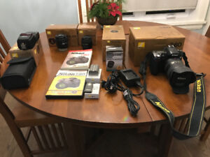 Nikon D80 DSLR, Flash, Lenses and Acc. Mint with ALL packaging.
