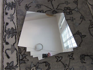 set of 8 stick-on mirrors from ikea
