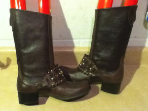 Women's Marie Passion Tall Brown Leather Boots Size 6.5 London Ontario image 5