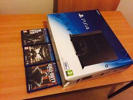 PlayStation 4 Jet Black 500GB with 3 original games bundle