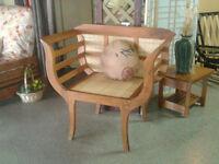 Chaise teak et bamboo