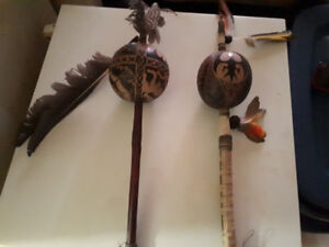 Hand Carved Shamanic Rattles