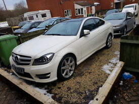 Mercedes c220 cdi amg line coupe pan roof 52k miles fully loaded