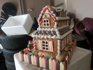 Ornamental ginger bread light up house