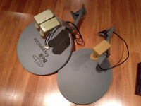 Two Satellite Dishes and Receiver