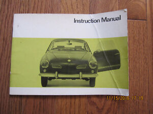 1968 1500 Karmann Ghia Owners Manual Sarnia Sarnia Area image 1