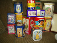Vintage Tins. Decorative and functional :-)