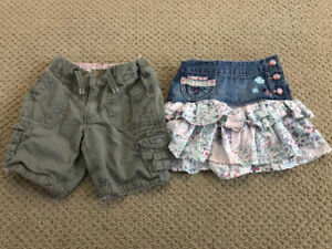 H&M skirt and shorts