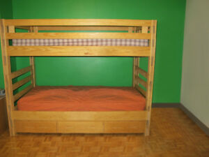 Crate & Design Bunk Bed with Rolling Drawer