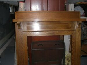 Vintage Antique fireplace mantel