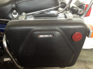 Honda GL1000 Goldwing Saddle Bags, Luggage Rack and back rest