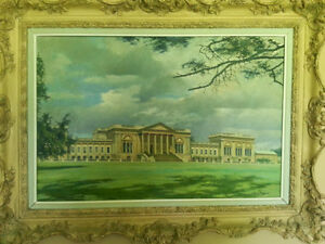 Stowe School (south front) painted by David Shepherd