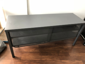 Ikea TV Stand-  Steel, Dark Gray, Modern