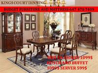 DINNING TABLE FOR SALE.. 6 CHAIRS...ANTIQUE DESIGN..BED FRAME SA