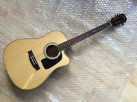 Aria AD18 CE Electro Acoustic Dreadnought Guitar