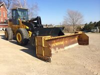 2001 644-H John Deere with new bucket and 14 ft pusher