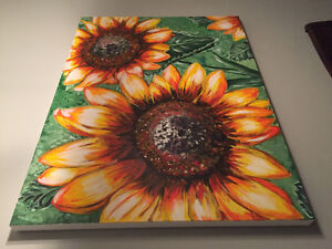 20x30 Sunflower Painting Canvas