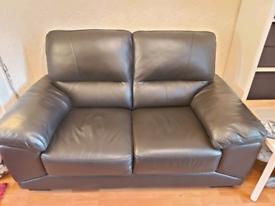 2 + 3 seater brown sofas