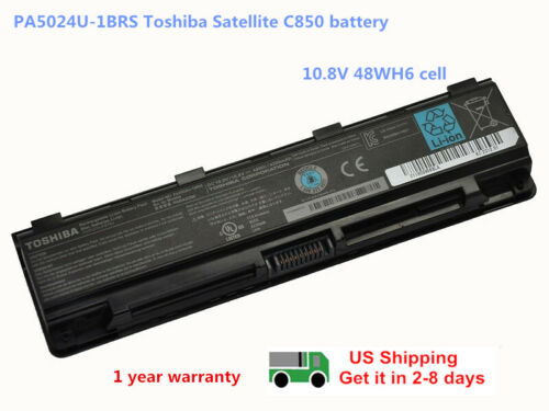 New Genuine Original PA5024U-1BRS Toshiba Satellite C850 Laptop Battery PABAS26