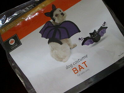 Dog BAT COSTUME S NEW Small WINGS & HEADPIECE With EARS Vampire Halloween PET