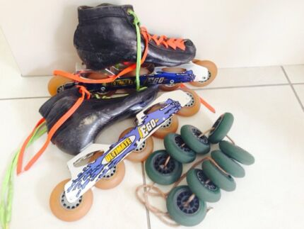 Inline speed skates, 5 wheel, bont, ultimate ego, bone Wattle Grove Liverpool Area Preview