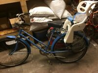 Blue CCM Classic Old Vintage Bicycle Internal Hub 3 Spd Gear