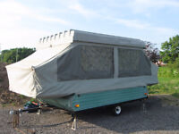 Pop Up Hard Top Camper Trailer / Stored 30 years / Real Gem