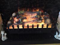 Fan heated electric fire.