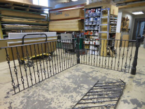 Wrought Iron Railings + Newel Posts