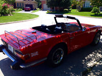original 1975 triumph tr6 roadster,soft & hardtop included