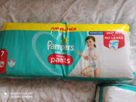 Brand new pampers pants size 7