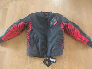 Icon Wireform Mens Motorcycle Jacket Size XL
