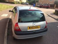 Renault Clio Expression, 2003, Automatic, 1.2 Petrol, Long MOT