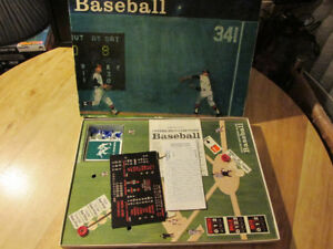MLB Parker Brothers BASEBALL Card Board Game Vintage Toy 1949