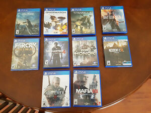 10 PS4 games (Mostly New Titles) $25 to $50 each