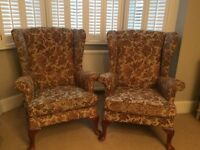 2x great Parker knoll wing back chairs