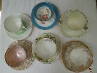 6 bone china teacups and saucers exquisite