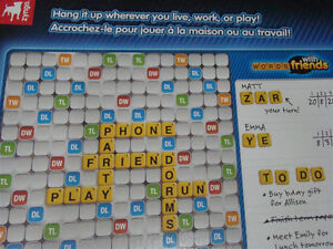 NEW WORDS WITH FRIENDS MAGNETIC GAME & MESSAGE BOARD GAMES 13+ Regina Regina Area image 5