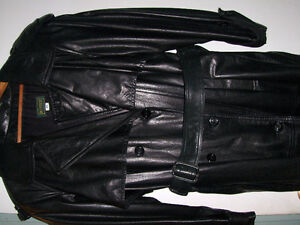 DANIER,leather trench