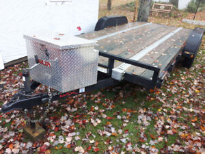 16ft Car Tandem Trailer .. Flat Deck Utility