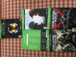 Jeux Xbox one: Halo5, Halo master chief collec , Gears of war 4