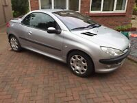 2001 Peugeot 206cc 1.6 breaking for spares