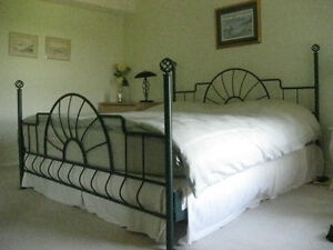 High End Cast Iron King Size Bed from DeBoers
