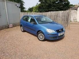VW POLO 2007 1.2 LTR PETROL FULL SERVICE HISTORY 1 YEAR MOT WARRANTED