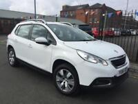 2016 PEUGEOT 2008 1.2 PURETECH ACTIVE 5DR WHITE **1 LADY OWNER **£30 TAX **FSH