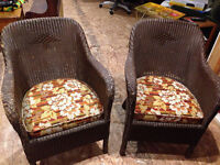 Wicker chairs - antique