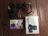 Canon 650D nearly new condition with Canon 18-55mm kit lens, boxed, 18 megapixels