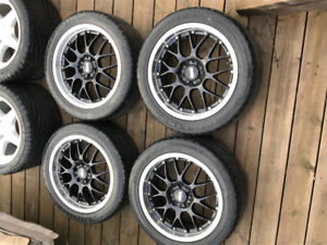"""18"""" BBS wheels with tires"""
